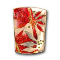 <p>Brooch &ndash; Poinciana <br />2011<br />36mm x 28mm<br />Stg and fine silver, cloisonn&eacute; and champleve enamel</p>