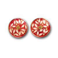 <p>Earrings<br />2011<br />20mm diameter round <br />Sterling and fine silver, cloisonne enamel</p>
