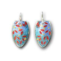 <p>Earrings<br />2011<br />25mm x 15mm<br />Sterling and fine silver, cloisonne enamel</p>
